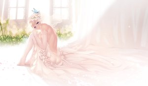 Rating: Safe Score: 88 Tags: aqua_eyes blonde_hair blush boku_wa_tomodachi_ga_sukunai cait elbow_gloves gloves kashiwazaki_sena thighhighs wedding_attire User: BattlequeenYume