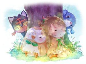 Rating: Safe Score: 62 Tags: cosplay crossover litten love_live!_school_idol_project mao_yuzi minami_kotori pokemon popplio rowlet sleeping tree User: FormX