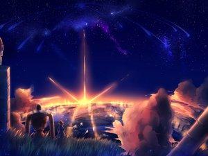 Rating: Safe Score: 99 Tags: laputa:_castle_in_the_sky stars sunset User: BoobMaster