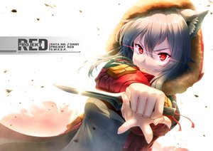 Rating: Safe Score: 28 Tags: animal_ears arknights gray_hair hoodie knife projekt_red_(arknights) red_eyes short_hair tenten_(reliance0410) weapon wolfgirl User: Dreista