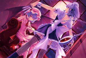 Rating: Safe Score: 128 Tags: couch dress izayoi_sakuya knife maid remilia_scarlet sayori scan thighhighs touhou vampire User: Wiresetc