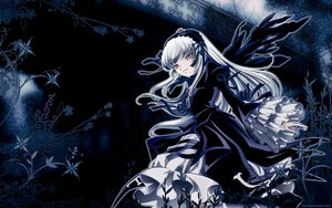 Rating: Safe Score: 22 Tags: gothic pink_eyes rozen_maiden suigintou white_hair wings User: 秀悟