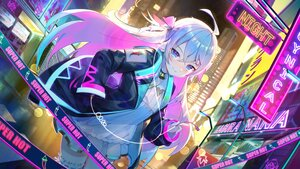 Rating: Safe Score: 104 Tags: aqua_eyes bell building city collar dress garter janyhero kagura_nana long_hair nanakagu_karatou_ch. night ribbons User: Nepcoheart