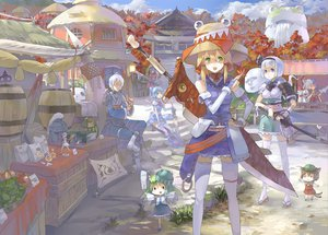 Rating: Safe Score: 128 Tags: 77gl animal_ears apple armor autumn blonde_hair blue_eyes blue_hair brown_hair catgirl cat_smile chen chibi cirno elbow_gloves fairy fang flowers food fruit fujiwara_no_mokou gloves green_eyes green_hair group hat headband hong_meiling japanese_clothes katana kochiya_sanae konpaku_youmu long_hair male miko monster_hunter morichika_rinnosuke moriya_suwako multiple_tails myon mystia_lorelei parody purple_hair remilia_scarlet short_hair sword tail thighhighs touhou vampire weapon white_hair wings wristwear yagokoro_eirin yasaka_kanako User: opai