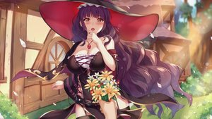 Rating: Safe Score: 51 Tags: alchemist_mafercca blush flowers game_cg long_hair mirror_(game) purple_hair red_eyes summer tagme_(artist) witch User: Demuwu