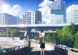 Rating: Safe Score: 22 Tags: building city clouds original scenic school_uniform sky yukimachi_(yuki_no_city) User: FormX