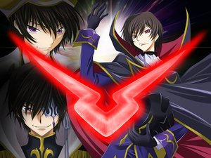 Rating: Safe Score: 16 Tags: all_male bicolored_eyes brown_hair code_geass eyepatch gloves lelouch_lamperouge male purple_eyes short_hair tagme_(artist) User: RyuZU