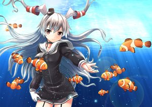 Rating: Safe Score: 88 Tags: amatsukaze_(kancolle) animal anthropomorphism fish kantai_collection lakuhito underwater water User: Flandre93