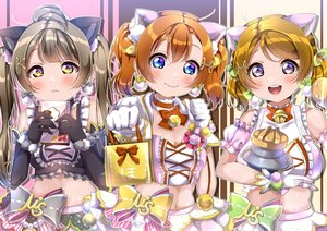 Rating: Safe Score: 19 Tags: animal_ears aqua_eyes bell blush bow breasts brown_eyes brown_hair cleavage koizumi_hanayo kousaka_honoka long_hair love_live!_school_idol_project minami_kotori navel panda_copt pink_eyes twintails valentine User: RyuZU