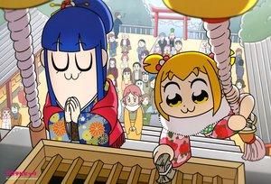 Rating: Safe Score: 14 Tags: blonde_hair blue_hair japanese_clothes kimono long_hair pipimi pop_team_epic popuko scan shrine umeki_aoi User: RyuZU