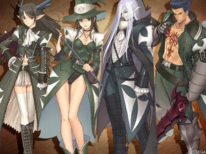 Rating: Safe Score: 72 Tags: black_eyes black_hair boots braids choker glasses gloves gray_hair group hat hiruda_reia killrain long_hair navel necklace pointed_ears red_eyes shining_tears shining_wind short_hair skirt staff sword taka_tony tattoo thighhighs watermark weapon witch witch_hat xecty_ein zeed zettai_ryouiki User: hirotn