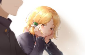 Rating: Safe Score: 35 Tags: blonde_hair blush brown_eyes close gradient hidaka_koharu high_score_girl male miaozi-san school_uniform short_hair User: RyuZU