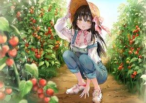 Rating: Safe Score: 92 Tags: black_hair breasts cleavage food fruit hat ice_(ice_aptx) long_hair orange_eyes original waifu2x User: BattlequeenYume