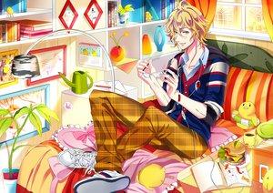 Rating: Safe Score: 23 Tags: all_male blonde_hair book food glasses green_eyes male shinomiya_natsuki uta_no_prince-sama yuna_(rutera) User: opai