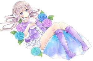 Rating: Safe Score: 35 Tags: blue_eyes blush brown_hair dress flowers long_hair original tsukiyo_(skymint) twintails User: BattlequeenYume