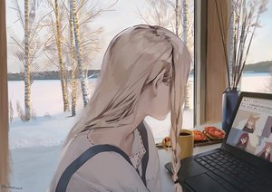 Rating: Safe Score: 80 Tags: blonde_hair computer drink food long_hair original pointed_ears signed sunako_(veera) tree winter User: BattlequeenYume