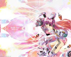 Rating: Safe Score: 17 Tags: animal_ears bunny_ears bunnygirl di_gi_charat komatsu_eiji mechagirl robot usada_hikaru User: Oyashiro-sama