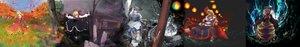 Rating: Safe Score: 59 Tags: aki_shizuha autumn blonde_hair blue_hair breasts cirno cleavage dress dualscreen fairy flowers forest gray_hair hat hoshiguma_yuugi kurodani_yamame letty_whiterock long_hair rumia short_hair skull socks tomotsuka_haruomi touhou tree winter User: FormX