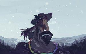 Rating: Safe Score: 39 Tags: brown_eyes dress hat hinanawi_tenshi long_hair mifuru snow touhou User: RyuZU