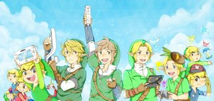 Rating: Safe Score: 14 Tags: all_male aqua_eyes blonde_hair boat brown_hair fairy game_console gloves guppy-kurisutaru hat king_of_red_lions link_(zelda) male navi pointed_ears tael tatl the_legend_of_zelda User: otaku_emmy