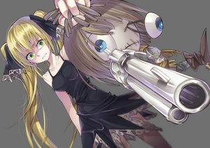Rating: Safe Score: 27 Tags: aliasing blonde_hair doll dress green_eyes gun long_hair marion_phauna shaman_king tagme_(artist) twintails weapon User: BattlequeenYume