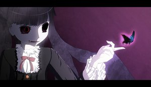 Rating: Safe Score: 154 Tags: blood butterfly fang kirishiki_sunako red_eyes shiki vampire User: HawthorneKitty