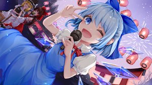 Rating: Safe Score: 24 Tags: arno_(ft3014) blonde_hair blue_eyes blue_hair bow brown_eyes brown_hair cirno dress fairy festival fireworks food hakurei_reimu hat japanese_clothes kirisame_marisa long_hair microphone miko short_hair touhou wings witch_hat yellow_eyes User: RyuZU