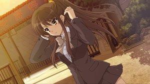 Rating: Safe Score: 73 Tags: brown_hair game_cg ponytail school_uniform sunset suzumiya_haruhi suzumiya_haruhi_no_tsuisou suzumiya_haruhi_no_yuutsu User: SciFi