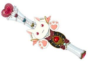 Rating: Safe Score: 9 Tags: healin'_good_precure kyuubee lilac_(pfeasy) mahou_shoujo_madoka_magica original waifu2x wand white User: otaku_emmy