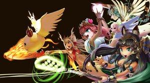 Rating: Safe Score: 38 Tags: abazu-red animal_ears barefoot bastet_(p&d) black_hair blonde_hair blue_eyes braids choker echidna_(p&d) fire green_eyes green_hair group headdress heart king_shynee_(p&d) long_hair magic navel puzzle_&_dragons red_eyes red_hair signed sword tiara valkyrie_(p&d) venus_(p&d) weapon wings wristwear User: minabiStrikesAgain