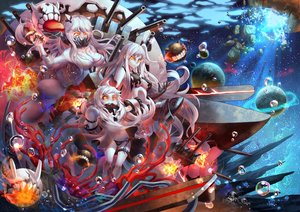 Rating: Safe Score: 16 Tags: armored_aircraft_carrier_hime kantai_collection midway_hime northern_ocean_hime tako_seijin User: Flandre93