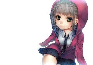 Rating: Safe Score: 10 Tags: hanjuku_otome hoodie original school_uniform white User: sadodere-chan
