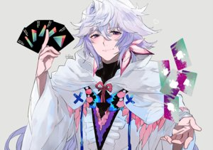 Rating: Safe Score: 25 Tags: all_male cape fate/grand_order fate_(series) hita_(hitapita) hoodie long_hair male merlin_(fate/grand_order) purple_eyes signed white_hair User: otaku_emmy