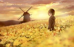 Rating: Safe Score: 32 Tags: black_eyes black_hair clouds jpeg_artifacts original sakeharasu scenic short_hair sky windmill User: RyuZU