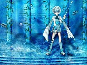 Rating: Safe Score: 19 Tags: all_male +anima animal armor blue boots choker fish gray_hair husky jpeg_artifacts male purple_eyes short_hair staff underwear watermark weapon User: Oyashiro-sama
