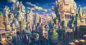 Rating: Safe Score: 76 Tags: building city clouds kemi_neko nobody original scenic sky stairs User: RyuZU