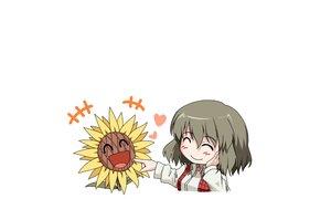 Rating: Safe Score: 46 Tags: chibi flowers green_hair hellshock kazami_yuuka touhou white User: TommyGunn