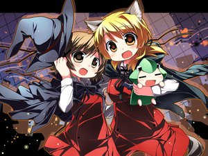 Rating: Safe Score: 16 Tags: animal_ears cape halloween hat hidamari_sketch miyako sakuraboshi_sora tail ume yuno User: HawthorneKitty