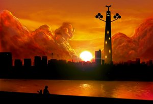 Rating: Safe Score: 63 Tags: building clouds cosmo_(pixiv12140406) landscape pikachu pokemon red_(pokemon) scenic silhouette sudowoodo sunset User: w7382001