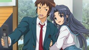 Rating: Safe Score: 26 Tags: asakura_ryouko game_cg hug kyon male phone school_uniform suzumiya_haruhi_no_tsuisou suzumiya_haruhi_no_yuutsu User: SciFi