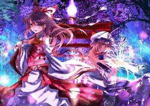 Rating: Safe Score: 104 Tags: 2girls hakurei_reimu japanese_clothes karlwolf long_hair miko tagme torii touhou yakumo_yukari User: opai