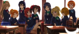 Rating: Safe Score: 40 Tags: aqua_eyes ayase_eri black_hair blonde_hair blue_hair blush bow brown_eyes brown_hair green_eyes group hoshizora_rin kneehighs koizumi_hanayo kousaka_honoka long_hair love_live!_school_idol_project minami_kotori nishikino_maki orange_hair orein ponytail purple_eyes red_hair seifuku short_hair skirt sonoda_umi toujou_nozomi twintails yazawa_nico yellow_eyes User: RyuZU
