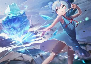 Rating: Safe Score: 58 Tags: bow cirno dress fairy gesoking06 loli magic touhou water User: FormX