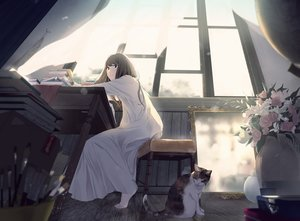 Rating: Safe Score: 57 Tags: animal cat long_hair maeda_mic original User: Dreista