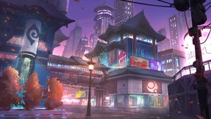 Rating: Safe Score: 42 Tags: building city leaves original purple scenic xian_yueyueyue User: FormX