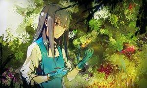 Rating: Safe Score: 127 Tags: apron flowers gloves gray_hair green_eyes idolmaster idolmaster_cinderella_girls long_hair lowlight_kirilenko shibuya_rin sunflower User: RyuZU