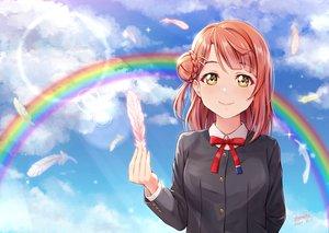 Rating: Safe Score: 26 Tags: clouds feathers green_eyes love_live!_nijigasaki_high_school_idol_club love_live!_school_idol_project rainbow red_hair school_uniform shamakho signed uehara_ayumu User: Dreista