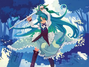 Rating: Safe Score: 6 Tags: dress fia_(riviera) green_eyes green_hair riviera User: Oyashiro-sama