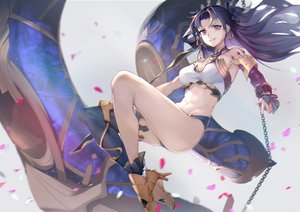Rating: Safe Score: 57 Tags: black_hair breasts chain fate/grand_order fate_(series) ishtar_(fate/grand_order) joehongtee long_hair petals pink_eyes User: RyuZU