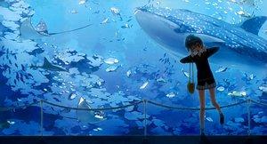 Rating: Safe Score: 225 Tags: 5_nenme_no_houkago animal fish kantoku miyaguchi_kei original photoshop scan seifuku skirt water User: Dummy